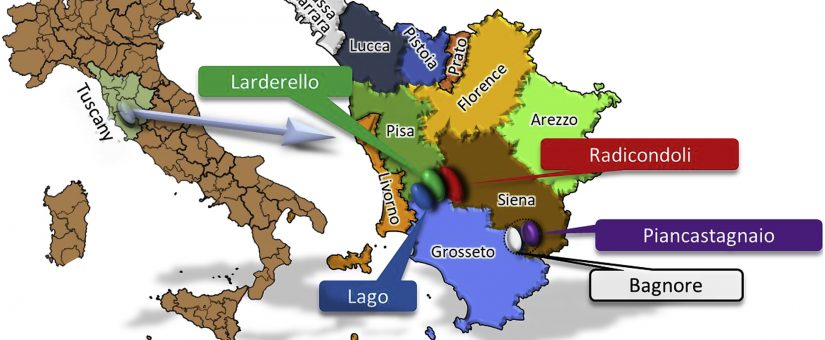 Life cycle assessment of atmospheric emission profiles of the Italian geothermal power plants